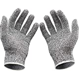 Prakal Cut Resistant Gloves With Silicone Grip Dots, Food Grade Level 5 Safety Protection Kitchen Cu