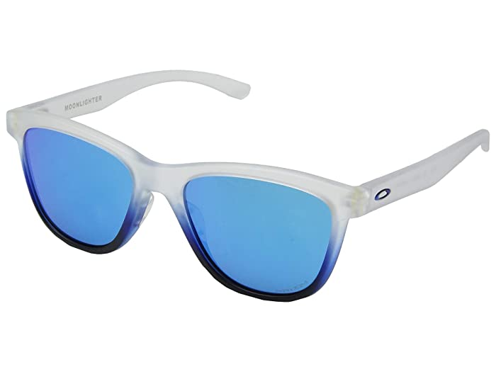 Oakley Moonlighter (Sapphire Mist w/ Prizm Sapphire) Plastic Frame Fashion Sunglasses