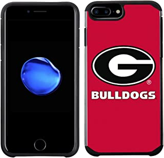 Prime Brands Group Textured Team Color Cell Phone Case for Apple iPhone 8 Plus/7 Plus/6S Plus/6 Plus - NCAA Licensed University of Georgia Bulldogs
