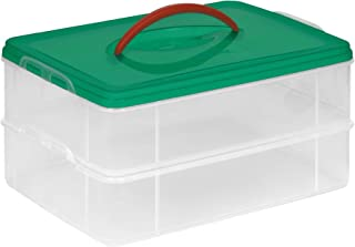 Snapware 30.5 x 30.5 cm 2-Layer Plastic Snap and Stack Ornament Keeper, Transparent