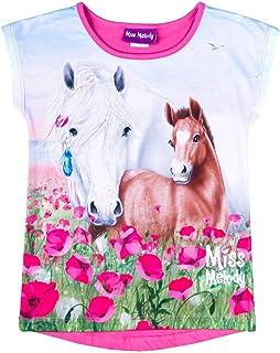 Miss Melody Ragazza T-Shirt Manica Lunga Bianco