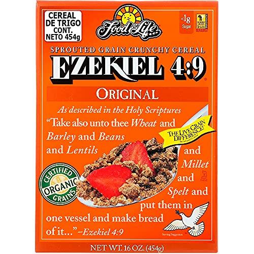 Food For Life, Ezekiel 4:9 Organic Sprouted Grain Cereal, Original, 16 oz