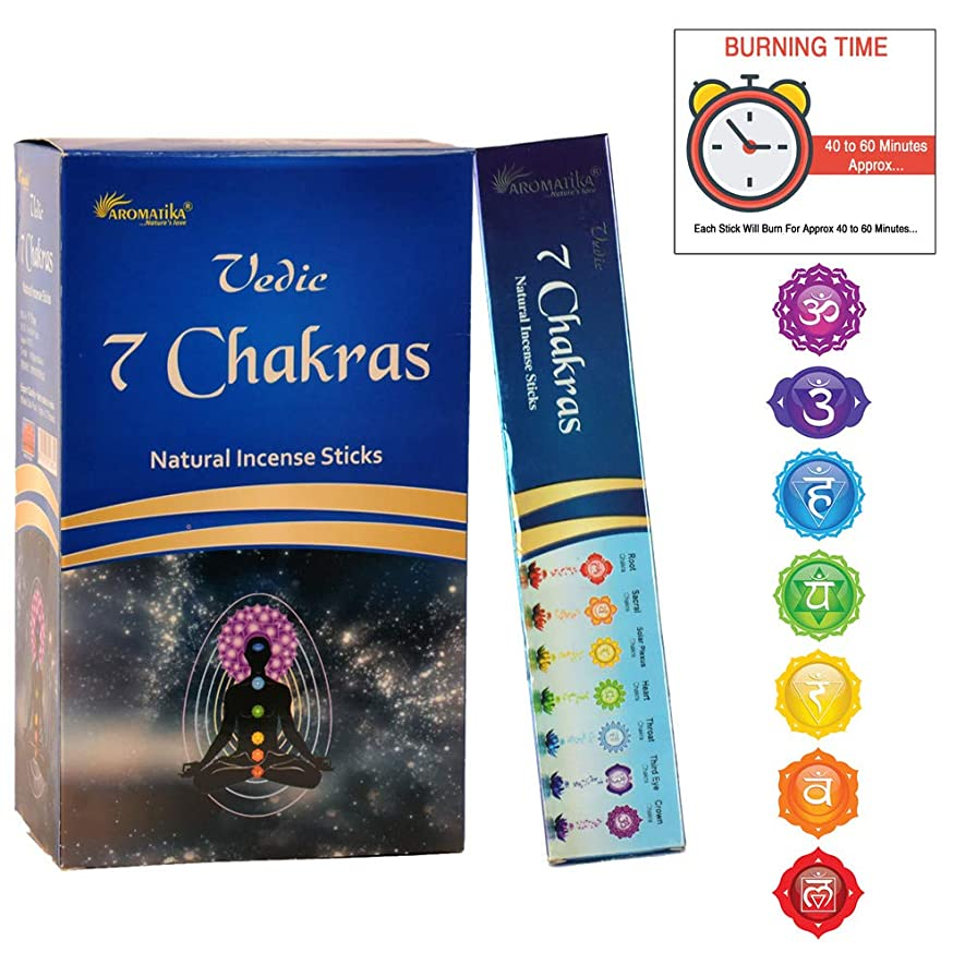 プランター瀬戸際光aromatika 7チャクラ15?gms Masala Incense Sticks Pack of 12