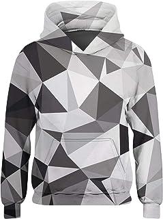 Boys Girls Pullover Hoodies Funny Fleece Hooded Sweatshirts with Pockets Age 3-16 Years