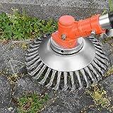 Erbaccia - Cepillo de 6 pulgadas con cabezal de corte de alambre de acero, cepillo para hierba profesional, cepillo para desbrozadora, agujero 2,54 cm, diámetro 15 cm