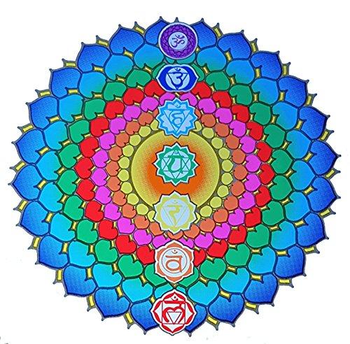 Raum der Stille Fenster Mandala, Selbstklebend, sehr leuchtstark, Verschiedene Varianten (14cm Durchmesser, Chakra Healing)