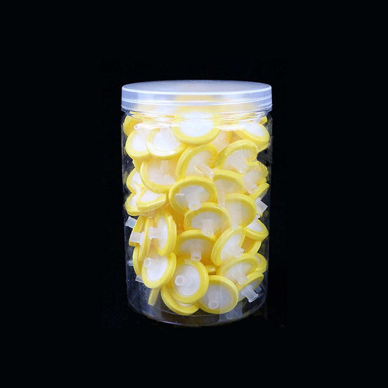 Syringe Lab Filters Nylon Hydrofilic Membrane 25mm Diameter 0.22um Pore Size 100 Count Syringe Filter Green Non Sterile Filtration