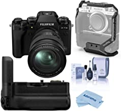 Fujifilm X-T4 Mirrorless Digital Camera with XF 16-80mm f/4 R OIS WR Lens, Black Vertical Battery Grip for X-T4, Cleaning ...