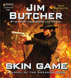 Skin Game     A Novel of the Dresden Files, Book 15              By:                                                                                                                                 Jim Butcher                               Narrated by:                                                                                                                                 James Marsters                      Length: 15 hrs and 49 mins     20,191 ratings     Overall 4.9
