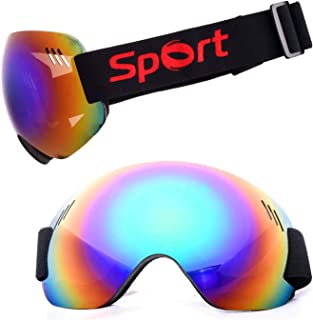 TPU PC Ski Goggles Anti Fog And Sand Proof Large Spherical Glasses Climbing Snow Goggles