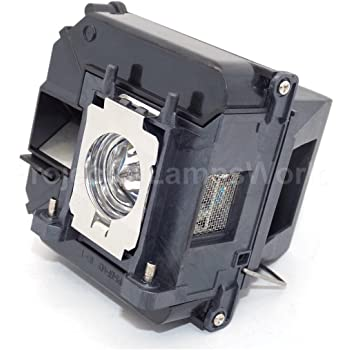 Projector Lamp Assembly with Genuine Original Osram P-VIP Bulb Inside. Powerlite Home Cinema 3010e Epson Projector Lamp Replacement