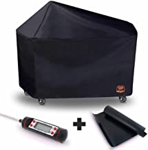 Yukon Glory 8268 Premium Grill Cover for 22 Weber Performer Charcoal Grills Compared to Weber 7152 Cover, Includes Grilling Kit