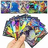RULY - Juego de cartas Pokémon GX V VMAX, coleccionables, para batallas interactivas, regalo para niños, 20 unidades (3 cartas VMAX + 17 cartas V, versión inglés)