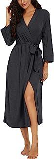 Women Kimono Robes Long Knit Bathrobe Lightweight Soft...