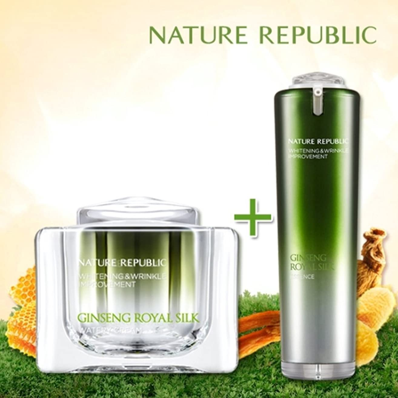 NATURE REPUBLIC/高麗人参ロイヤルシルクウォーターリークリーム+エッセンス Nature Republic、Ginseng Royal silk Watery Cream+Essence(海外直送品)