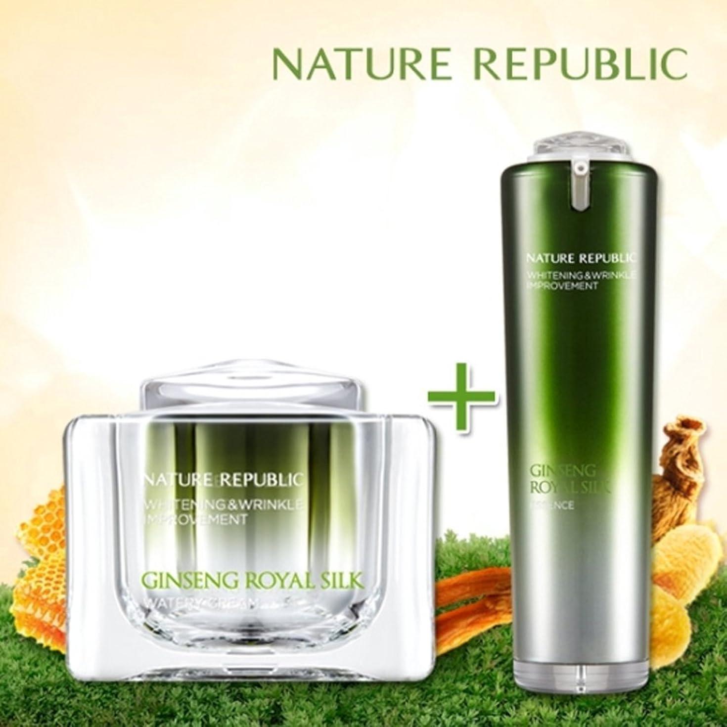 フェッチ弱点明るくするNATURE REPUBLIC/高麗人参ロイヤルシルクウォーターリークリーム+エッセンス Nature Republic、Ginseng Royal silk Watery Cream+Essence(海外直送品)