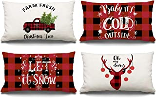 12 X 12 Christmas Pillow Covers