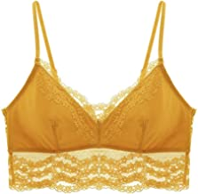 Toouoo Black/Ecru/Yellow, No Buckle, No Steel Ring, Underwear Aphrodisiacal Lace Comfy Sponge-free Soft Cup Vest Style Underwear Women Waist Bra and Panty (Color : Yellow, Size : 70C=30C=65C)