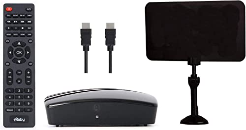 eXuby Digital Converter Box for TV, Antenna, HDMI and RCA Cable - Complete Bundle to View, Record HD Channels Instant...