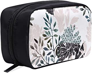 Colorful Chrysanthemum Watercolor Portable Travel Makeup Cosmetic Bags Organizer Multifunction Case Small Toiletry Bags For Women And Men Brushes Case