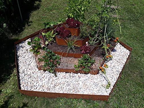 IRKA Pflanzenpyramide Corten Edelrost Kräuterspirale Hochbeet Blumenpyramide
