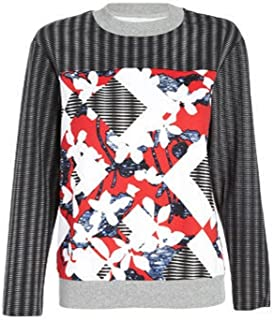 Peter Pilotto for Target Red Patchwork Sweatshirt Women's Medium (M)