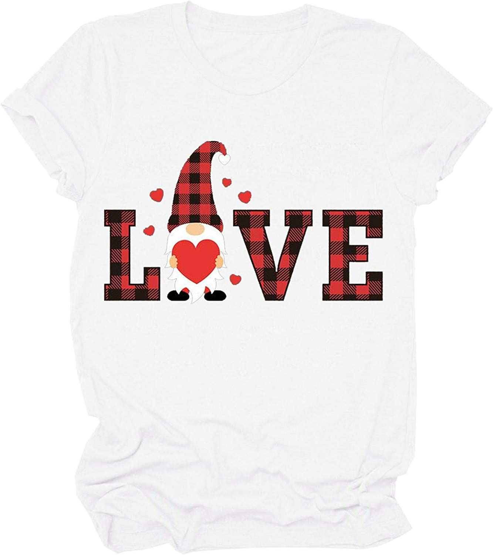 FABIURT Shirts for Women Under 10 Dollars Womens T Shirt Casual Cotton Short Sleeve V-Neck Graphic T-Shirt Tops Tees White