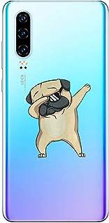 Oihxse Transparente Funda para Huawei Mate 30 Pro 5G Ultrafina Silicona Suave TPU Carcasa Interesante Perro Patrón Flexible Protectora Estuche Antigolpes Anti-Choque (A4)