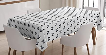Rectangular Fabric Tablecloth with Scottie Dogs in Coats 60x84 Oblong