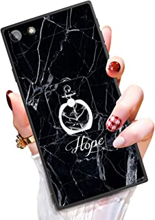 Someseed Case for iPhone 6 Plus iPhone 6s Plus Case with Kickstand Black Marble Cover Case with 360 Degree Ring Holder Anti Scratch Durable Full Protective for iPhone 6 Plus / 6s Plus 5.5