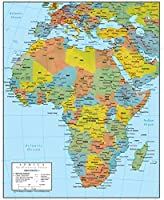 アフリカ壁マップGeopolitical Edition by Swiftmaps 14185056