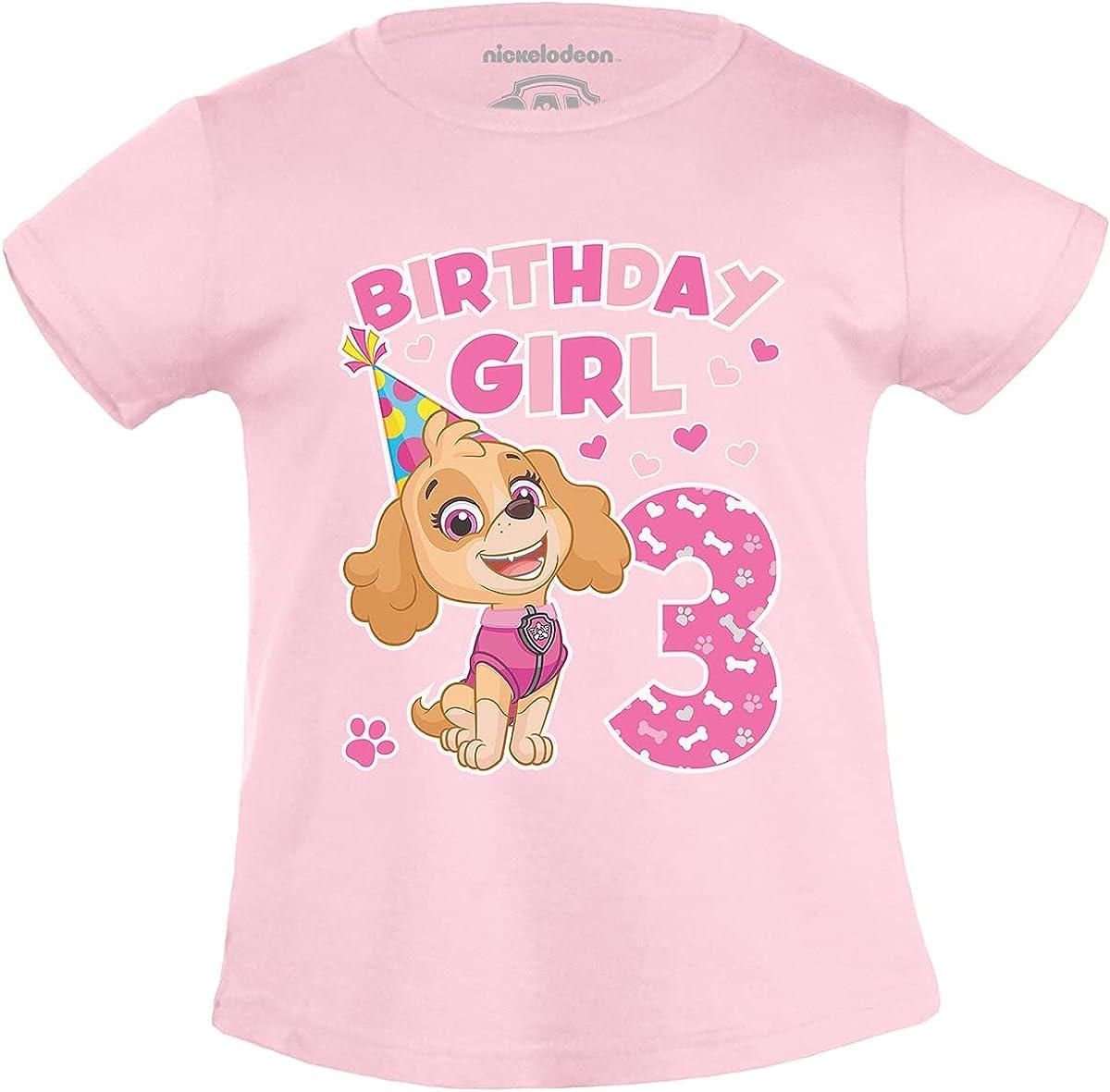 """PAW Patrol - T-Shirt """"Birthday Girl 3 Jahre"""" für Mädchen"""