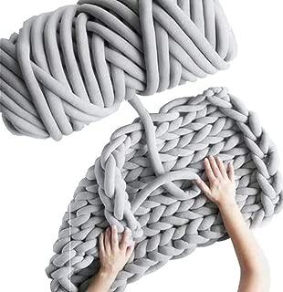 Arm Knitting Yarn, Hand Knitting, Arm Knit Yarn, Bulky Yarn, Jumbo Yarn, Giant Yarn,Cotton Tube Yarn, (Grey)