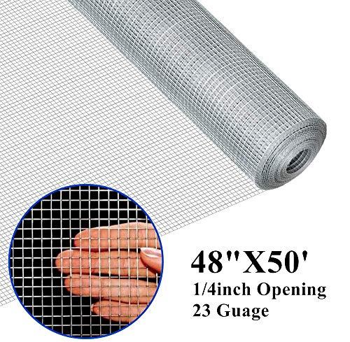 Amagabeli 48x50 Hardware Cloth 1/4 inch Square Galvanized Wire
