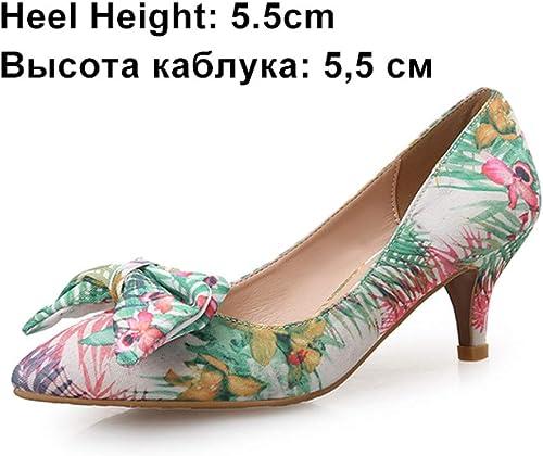 VIVIOO Las Bombas de Las mujeres zapatos de tacón Alto zapatos de la Boda se Deslizan en los zapatos de Mariposa Nudo talón Delgado Dedo del pie Acentuado señoras Zapato Bordado paño