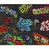 murando Fotomurales 100x70 cm XXL Papel pintado tejido no tejido Decoración de Pared decorativos Murales moderna de Diseno Fotográfico grafiti 10110902-6