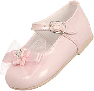Little Baby Girl Infant Toddler Patent Bow Ankle Strap Buckle Dress Shoes