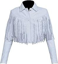 Ferris Bueller's Day Off actress Sloane Peterson White Fringe Leather Jacket