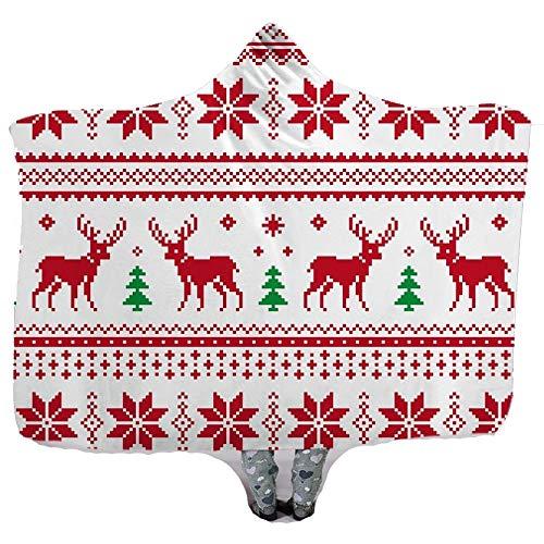 XC Fleece bed dekens/kerst Hippie wind dragen hoed deken met capuchon deken, dikke dubbele mantel harige polyester vezel