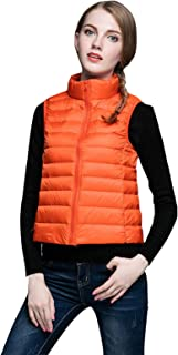 Rookay Women's Light Weight Sleeveless Down Jacket Water-Resistant Packable Down Vest