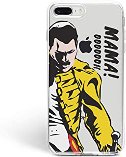 WolfCase Freddie Mercury Music Queen Mama oh Case Cell Phone Silicone Plastic Case for Apple iPhone X / 10/8 / 7 / plus iPhone 6 / 6S iPhone 4 / 4S iPhone 5 / 5S / 5C / SE Protective Cover MC4271