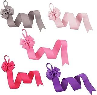 CN 5pcs Christmas Bow Holder Glitter Hair Clip Organizer Hair Accessories Storage Wall Hanging Decor