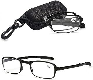 7e5f6e318e VEVESMUNDO Gafas de Lectura Plegables Hombre Mujer Compactas Presbicia  Vista Leer con Mini Portatiles Bolsillo 1.0