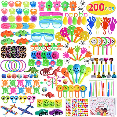 Max Fun 200Pcs Party Toys Assortment for Kids Birthday Party Favors Carnival Prizes Box Goodie Bag Fillers Classroom Rewards Pinata Filler Toys Treasure Box