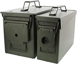 Redneck Convent 30 and 50 Cal Metal Ammo Can 2-Pack – Military Army Solid Steel Holder..