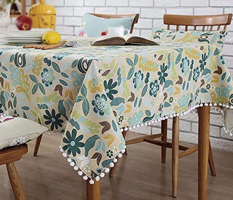 tomar hasta un 70% de descuento WFLJL mantel Estilo Europeo algodón decoración Cocina Mesa Mesa Mesa de café Mesa de Comedor pao 180  180cm  presentando toda la última moda de la calle