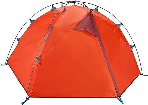 QB-Z Orange Rouge Tente en Plein air 2 Personnes Double épais Camping Camping Ombre Ombre Double Tente