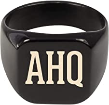Molandra Products AHQ - Adult Initials Stainless Steel Ring