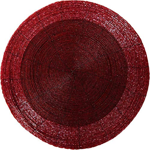 Arsvita Glasperlen Tischset (Rot - Weinrot)