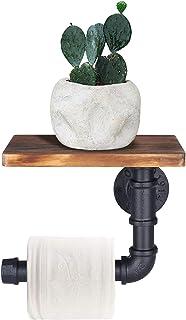 OROPY Portarrollos para papel higiénico industrial con estante soporte de papel higiénico montado en la pared accesorios...